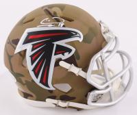 Calvin Ridley Signed Falcons Camo Alternate Mini Helmet (Beckett COA) at PristineAuction.com