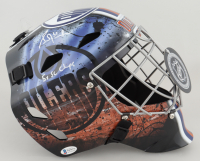 "Grant Fuhr Signed Oilers Full-Size Goalie Mask Inscribed ""5x SC Champs"" (Beckett COA) at PristineAuction.com"
