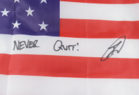 """Robert J. O'Neill Signed American Flag Inscribed """"Never Quit!"""" (PSA COA) at PristineAuction.com"""