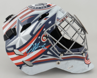 Joonas Korpisalo Signed Blue Jackets Full-Size Goalie Mask (Fanatics Hologram) at PristineAuction.com
