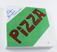 "Rodger Bumpass Signed ""SpongeBob SquarePants"" Krusty Krab Pizza Box Inscribed ""Squidward"" (PSA COA) at PristineAuction.com"