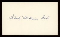 """Woody Williams Signed 3x5 Cut Inscribed """"Reds"""" (PSA COA) at PristineAuction.com"""