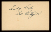 """Bob Porterfield Signed 3x5 Cut Inscribed """"Best of Luck"""" (JSA COA) at PristineAuction.com"""