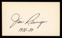 """Jim Reninger Signed 3x5 Cut Inscribed """"1938-39"""" (JSA Hologram) at PristineAuction.com"""