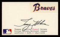 Tommy Holmes Signed 3x5 Cut (PSA Hologram) at PristineAuction.com