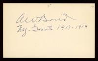 "Al Baird Signed 3x5 Cut Inscribed ""N.Y. Giants 1917 - 1919"" (JSA COA) at PristineAuction.com"