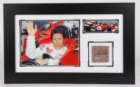 Mario Andretti Signed Indy 500 14x23 Custom Framed Indianapolis Motor Speedway Brick Piece Display (Fanatics Hologram) at PristineAuction.com
