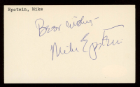 """Mike Epstein Signed 3x5 Cut Inscribed """"Best Wishes"""" (JSA COA) at PristineAuction.com"""