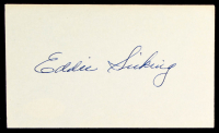 Ed Sicking Signed 3x5 Cut (JSA COA) at PristineAuction.com