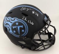 "Chris Johnson Signed Titans Eclipse Alternate Full-Size Speed Helmet Inscribed ""2k Club"" (JSA COA) at PristineAuction.com"