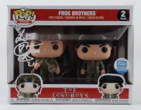 "Corey Feldman Signed ""The Lost Boys"" Funko Pop! The Frog Brothers Vinyl Figure Set Inscribed ""Love"" (PSA COA) (See Description) at PristineAuction.com"