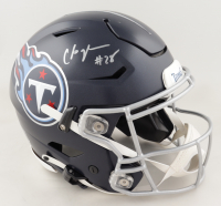 Chris Johnson Signed Titans Full-Size Authentic On-Field SpeedFlex Helmet (Beckett COA) at PristineAuction.com
