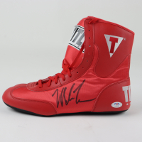 Mike Tyson Signed Title Boxing Shoe (PSA COA) at PristineAuction.com