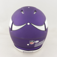 Irv Smith Jr.  Signed Vikings Full-Size Authentic On-Field Speed Helmet (Beckett COA) (See Description) at PristineAuction.com