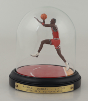"Michael Jordan Bulls ""The Farewell Shot"" Authenticated Upper Deck Hand-Painted Tributes Figurine at PristineAuction.com"