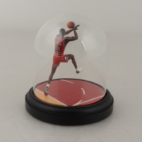 """Michael Jordan Bulls """"The Farewell Shot"""" Authenticated Upper Deck Hand-Painted Tributes Figurine at PristineAuction.com"""