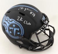 "Chris Johnson Signed Titans Full-Size Eclipse Alternate Speed Helmet Inscribed ""2k Club"" (JSA COA) (See Description) at PristineAuction.com"