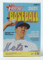 2021 Topps Heritage Baseball Blaster Box with (8) Packs at PristineAuction.com