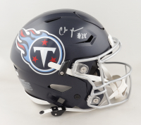 Chris Johnson Signed Titans Full-Size Authentic On-Field SpeedFlex Helmet (Beckett COA) (See Description) at PristineAuction.com