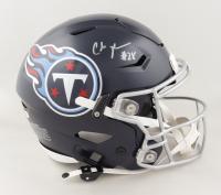 Chris Johnson Signed Titans Full-Size Authentic On-Field SpeedFlex Helmet (Beckett COA) (See Description) at PristineAuction.com