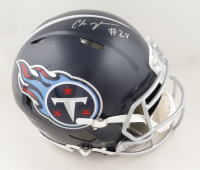 Chris Johnson Signed Titans Full-Size Authentic On-Field Speed Helmet (Beckett COA) (See Description) at PristineAuction.com
