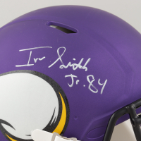 Irv Smith Jr. Signed Vikings Full-Size Authentic On-Field Speed Helmet (Beckett COA) at PristineAuction.com