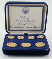 Set of (7) A Great New Beginning Ronald Reagan & George Bush Cuff Links (See Description) at PristineAuction.com