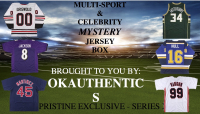 OKAUTHENTICS Multisport & Celebrity Jersey Mystery Box - Series X at PristineAuction.com