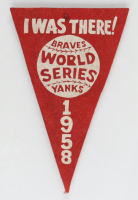 1958 Yankees World Series Pennant Flag (See Description) at PristineAuction.com