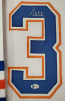 Grant Fuhr Signed 34x42 Custom Framed Jersey (Beckett COA) at PristineAuction.com