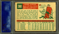 Hank Aaron Signed 1959 Topps #380 (PSA Encapsulated) at PristineAuction.com