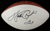 "Walter Payton & Jim McMahon Signed NFL Football Inscribed ""Super Bowl XX Champs"" (Beckett LOA) (See Description) at PristineAuction.com"