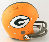 """Bart Starr Signed Packers Full-Size Throwback Suspension Helmet Inscribed """"With Best Wishes"""" (Beckett LOA) (See Description) at PristineAuction.com"""
