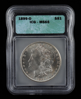 1899-O Morgan Silver Dollar (ICG MS65) at PristineAuction.com