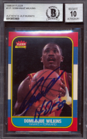 "Dominique Wilkins Signed 1986-87 Fleer #121 RC Inscribed ""HOF 06"" (BGS Encapsulated) at PristineAuction.com"