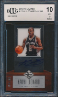 Kawhi Leonard 2012-13 Limited #174 RC #198 / 349 (BCCG 10) at PristineAuction.com