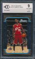 LeBron James 2003-04 Bowman #123 RC (BCCG 9) at PristineAuction.com