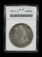 1921-S Morgan Silver Dollar (ANACS AU55) at PristineAuction.com