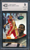 LeBron James 2003 eTopps #43 # / 10,000 (BCCG 9) at PristineAuction.com