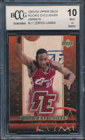 LeBron James 2003-04 Upper Deck Rookie Exclusives Jerseys #J1 (BCCG 10) at PristineAuction.com
