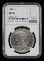 1924 Peace Silver Dollar (NGC MS58) at PristineAuction.com