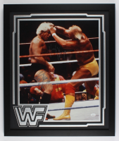 Ric Flair & Hulk Hogan Signed 22x26 Custom Framed Photo Display (JSA COA) at PristineAuction.com