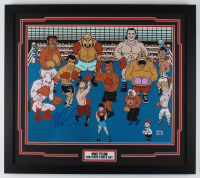 Mike Tyson Signed 23x26 Custom Framed Photo Display (Fiterman Sports Hologram) at PristineAuction.com