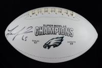 Lane Johnson Signed Eagles Super Bowl LII Logo Football (JSA COA) at PristineAuction.com