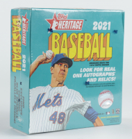 2021 Topps Heritage Baseball Mega Box with (138) Cards at PristineAuction.com