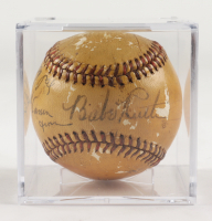 "Babe Ruth Signed Baseball Inscribed ""To My Pal"" & ""From"" with Display Case (JSA LOA) at PristineAuction.com"