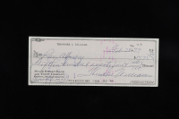 "Theodore ""Ted"" Williams Signed Hand-Written 1979 Personal Bank Check (Williams COA) at PristineAuction.com"
