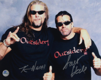 Scott Hall & Kevin Nash Signed WWE 11x14 Photo (Pro Player Hologram) at PristineAuction.com