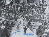 """""""The Wizard of Oz"""" 11x14 Photo Cast-Signed by (4) with Mickey Carroll, Jerry Maren, Karl Slover, & Donna Stewart-Hardaway (JSA COA) at PristineAuction.com"""