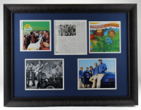 "Multi-Signed ""The Beach Boys"" 26x34 Custom Framed Display Signed by (5) With Carl Wilson, Brian Wilson, Al Jardine, Mike Love & Bruce Johnston Inscribed ""July 4 1993"" (Beckett LOA) at PristineAuction.com"